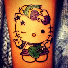 punk rock cat tattoos | Home » punk-rock-hello-kitty-tattoo