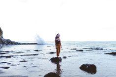 "Oregon Coast Lookbook shoot for Takara Design. #pnw #oregon #coast #model #jewelry #design #""natural dye"" #craft"
