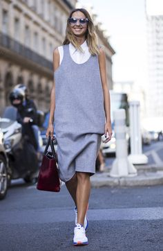PFW street style simple chic