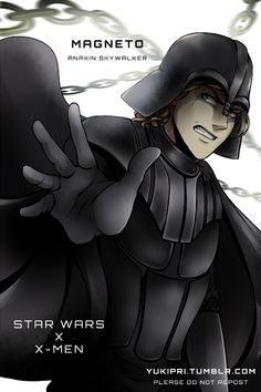 """STAR WARS x X-MEN AU Anakin Skywalker - """"Magneto"""" - A powerful mutant who controls magnetic fields and metal. He has been manipulated by people from a young age, either treated as a tool or feared. After his mother's murder, he vows to never lose..."""