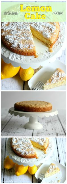 DELICIOUS LEMON CAKE with a cool secret ingredient that gives it that PERFECT light lemon flavor.