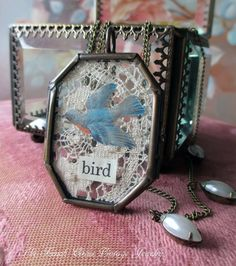 EPHEMERA BIRD  vintage inspired assemblage necklace by The French Circus, $67.00