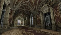 Inside Medieval Castles | Here are some early shots of a castle interior module set im working ...