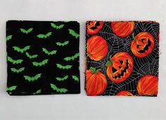 Charm Pack 20 Halloween Squares Cotton Fabric Squares 5 Inch Craft Supplies Sewing Supplies Quilting Supplies by Quiltwear on Etsy