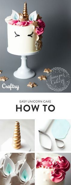 This Unicorn Cake is Magically Easy to Make This adorable unicorn cake makes a great baking project. Not to mention it is perfect for any fantasy themed party. Get the step by step tutorial at Craftsy. Unicorne Cake, No Bake Cake, Eat Cake, Cupcake Cakes, Cake Art, 3d Cakes, Cakes To Make, How To Make Cake, How To Make A Unicorn Cake