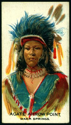 Cigarette Card - Indian Chief, Agate Arrow Point