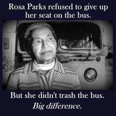But she didn't trash the bus…