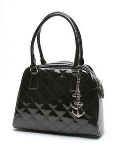 Lux De Ville Bon Voyage Tote Shiny Black - Steady Clothing Inc.