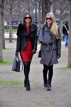 awesome furs x2. Paris.