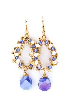 Laurel Earrings in Sunrise Blue