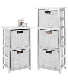Rattan Effect 2 Drawer and 3 Drawer Storage Units - White.  Was £40.99  Now £35.99