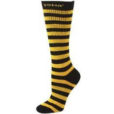 Women's New Orleans Saints For Bare Feet Chevron Socks