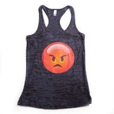 Angry Emoji Tank: http://shop.nylon.com/collections/whats-new/products/burnout-racerback-tank-angry-emoji. #NYLONshop