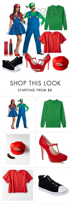 """Halloween costume"" by fathimazee ❤ liked on Polyvore featuring Lands' End, American Eagle Outfitters, Skechers, Max Factor and couplescostumes"