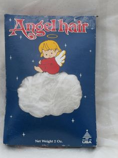 Vintage Angel Hair Spun Glass for Christmas Decorating and Crafting