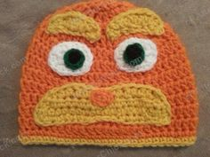 Lorax Dr Suess Crochet Character Hat