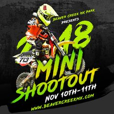 Motocross Event Poster and Social Media Posts Design for 2018 Mini Shootout by Beaver Creek MX. Sports Party Favors, Web Development Agency, Sport Craft, Beaver Creek, Healthy Shopping, Sports Wallpapers, Sport Quotes, Sports Humor, Kids Sports