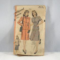 Vintage 1940s Hollywood Misses Skirt and by VintageCreekside, $4.25