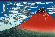 Red Fuji Art Print by Katsushika Hokusai at King & McGaw