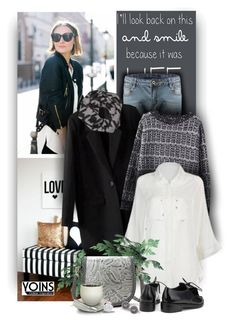 """""""Black and white with Yoins Fashion"""" by christiana40 ❤ liked on Polyvore"""