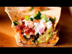 Seven-Layer Dip Cups - YouTube