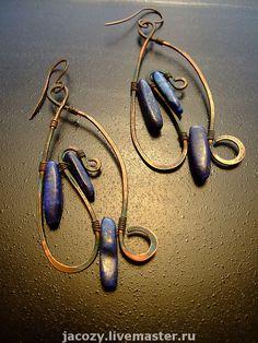 I love these!   Серьги ручной работы. Ярмарка Мастеров - ручная работа Серьги с лазуритом. Handmade.