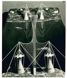 PIER LUIGI NERVI Progetto per un ponte sullo Stretto di Messina, 1969 © Fondazione MAXXI