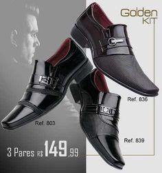 f4bf5a6dd Sapato Social Masculino Cinto+carteira Brilhoso Envernizado - R$ 144 ...