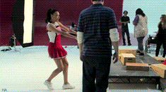 Glee Behind the Scenes | glee, Behind The Scenes, Naya and Cory Dance Time!XD