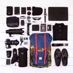 Well Packed with the Little America Backpack and Herschel Supply.