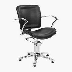 George V Black hydraulic Styling Chair