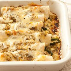 Easy Chicken Enchiladas (Healthy Recipes at WomansDay.com). I made this years ago and lost the recipe - so glad to have found it - was DELICIOUS! Will be making it this week!