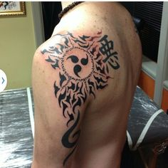 Curse seal of heaven, anbu black ops, and Japanese symbol for bad....Naruto Shippuden Tattoos...more to come