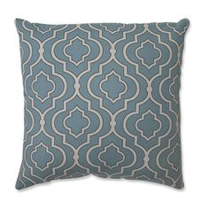 @Overstock.com - Pillow Perfect Donetta Aqua 16.5-inch Throw Pillow - Add the perfect blend of style and comfort to any space in your home with this aqua and white geometric throw pillow from Pillow Perfect. This pillow features lovely knife edging and a durable cotton cover.  http://www.overstock.com/Home-Garden/Pillow-Perfect-Donetta-Aqua-16.5-inch-Throw-Pillow/8380292/product.html?CID=214117 $32.99