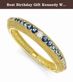 "Best Birthday Gift Kennedy White & Blue Swarovski Crystal 7in Bold Bangle. Kennedy White & Blue Swarovski Crystal 7in Bold Bangle Hinged - 18k gold-plated - Swarovski Elements - Metal Size: 0 Length: 7 Weight: 44.24 Jewelry item comes with a FREE gift box. Re-sized or altered items are not subject for a return. Kennedy White & Blue Swarovski Crystal 7in Bold Bangle Product Type:Jewelry Jewelry Type:Bracelets Stone Type_1:Swarovski Elements Stone Color_1:Multi-color"" Our gemstones are…"