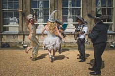 Drag Queens and the Mariachi Band Taxidermy wedding - Festival themed wedding - Oxfordshire