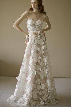 Laser cut flower dress.