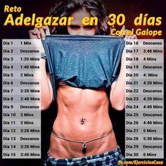 ejercicio de galope en 30 dias