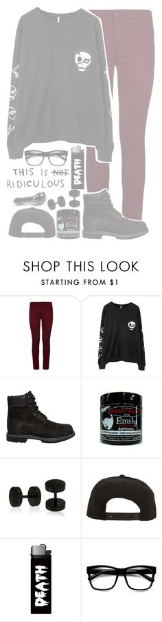 """""""☾; """"through your scalp i would like to reach in so i could pull out the monster you've been"""""""" by xx-beautifully-insane-xx ❤ liked on Polyvore featuring Hudson, Chicnova Fashion, Timberland, Bling Jewelry, Roark and ZeroUV"""