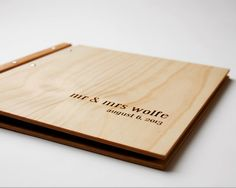 Wood Wedding Album | Wedding Guestbook | Wedding Gift  We work with you to create a beautifully engraved timber album or large scale guest book. We offer