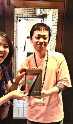 from Dion Lim While shopping for gifts in Akihabara-- I entered a free drawing and WON a Google Nexus 7 tablet! (Tuesday) Nexus 7, Google Nexus, What Goes On, Behind The Scenes, Tuesday, Weather, Drawing, Gifts, Free