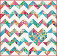 Looking for your next project? You're going to love iHeart Chevrons Quilt Pattern Love by designer Marie Joerger.
