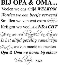Opa en oma we horen bij elkaar Inspirierender Text, Inspirational Text, Happy B Day, More Than Words, Live Love, Smash Book, Family Quotes, Hand Lettering, Best Quotes