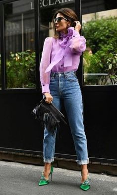 Colourful Outfits, Colorful Fashion, Mode Outfits, Fashion Outfits, Womens Fashion, Classy Outfits, Stylish Outfits, Mode Monochrome, Color Blocking Outfits