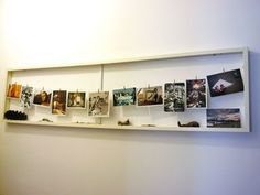 displaying postcards - can display my travel collectibles on the bottom of the frame