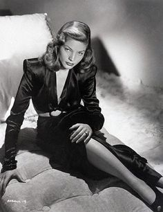 """Lauren Bacall in black evening gown from """"The Big Sleep"""".  The Big Sleep is a great movie too!!"""