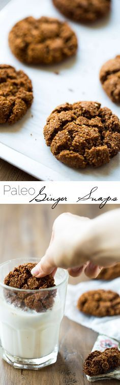 Paleo Gingersnaps - Completely butter free, gluten free and grain free, you will be amazed that these Christmas cookies taste better than Grandmas! Seriously, the best! | Foodfaithfitness.com | Food Faith Fitness