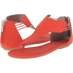 Michael Antonio Driggs (Red) Women's Sandals ($18) ❤ liked on Polyvore  featuring