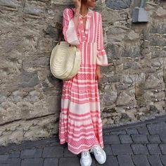 V-Collar Cotton Linen Printing Dress – fashiontia Tribal Sleeve, Tribal Dress, Khaki Dress, Pink Dress, Dress Black, Bohemia Dress, Vacation Dresses, Jumpsuit Dress, Dress Ootd