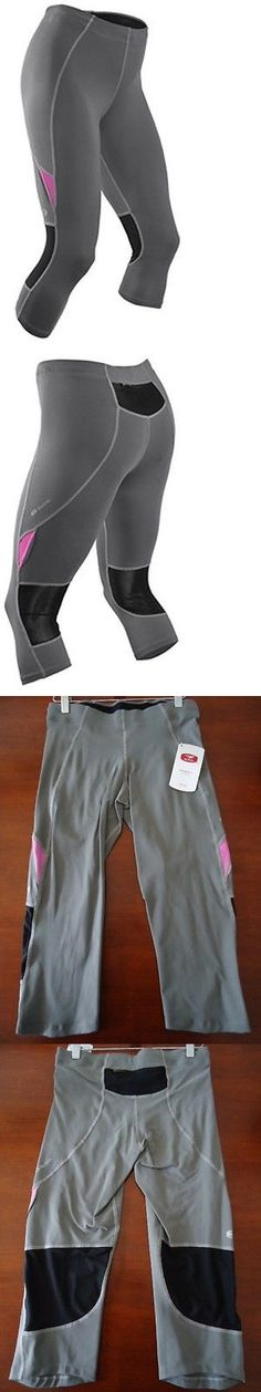 Other Womens Fitness Clothing 13360: Sugoi Jackie Run Knicker Womens Medium Gray Pink Bike Gym Excercise Tight -> BUY IT NOW ONLY: $59.95 on eBay!